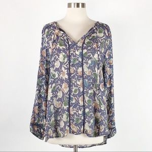 Lucky Brand | Floral Peasant Top
